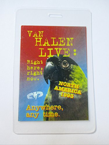 1993 Van Halen Laminated Backstage Pass North America Foil Stamped ()