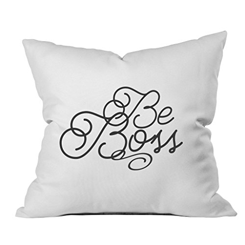 Oh, Susannah Be Boss Throw Pillow Cover (1 18 X 18 inch, Black)