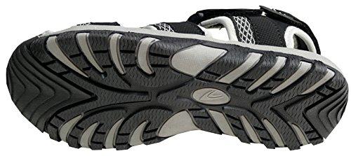 Fashion Grey Sandals Men's Gibra Black zwfq4U