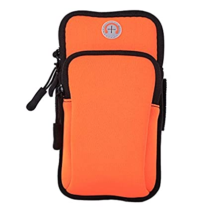 big sale f943c 165a3 Aeoss Waterproof Nylon Sport Armband Unisex Running Jogging Gym Arm Band  Case Cover for iPhone 6S, 6 Plus 5.7 inches (Orange)