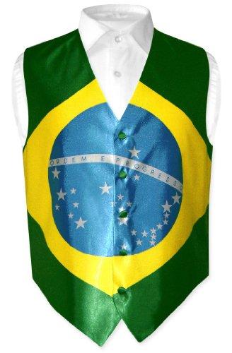 Brazilian Flag Dress - Covona Men's Brazilian Flag Dress Vest