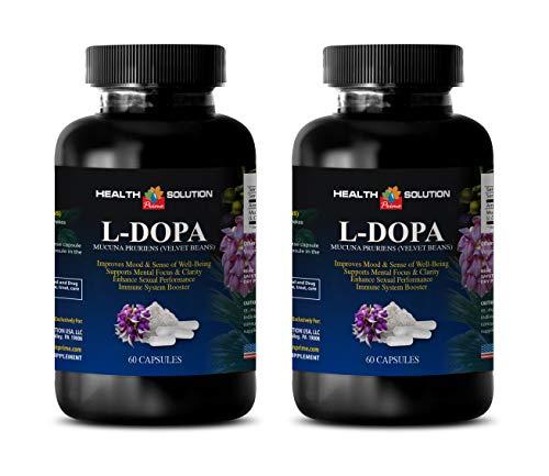 Organic dopamine supplements – L-DOPA 350 MG MUCUNA PRURIENS EXTRACT 99 – libido improvement 2 Bottles