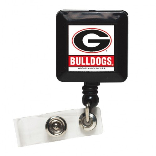 NCAA Georgia Bulldogs Badge Holder [Office (Bulldog Keychain Holder)