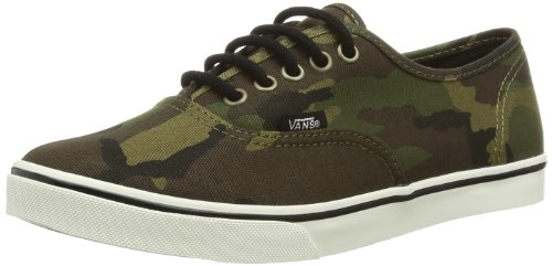 Vans U Authentic LO Pro (Camo) Military, Baskets Femme, Multicolore/Camouflage (Camo Military) Multicolore/camouflage - Vert militaire