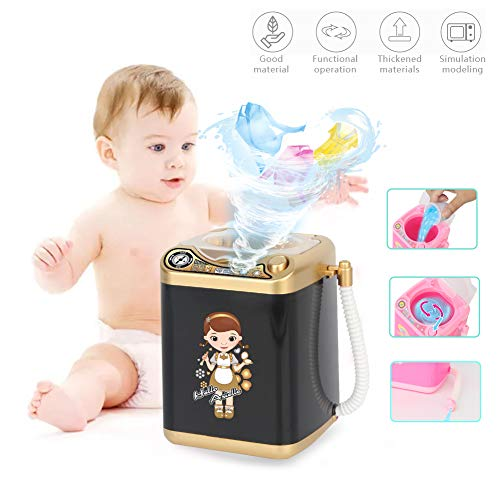 Makeup Brush Cleaner Device Automatic Cleaning Washing Machine Mini Toy With Screwdriver 4 Colors With Dryer Black Gold