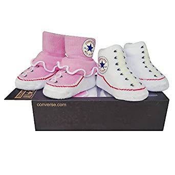 Converse All Star Baby Chucks Rosa Weiß Socken 0-6 Monate ...