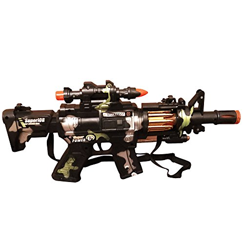 Rapid Fire Machine Gun (LilPals Special 12 Inch Rapid Fire Machine Gun Toy – With Dazzling Light, Remarkable Sound & Amazing Machine Gun Live Action)