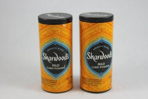 Medium Curry Powder - Sharwood's Mild Curry Powder, 3.6 oz (102g), Pack of 2