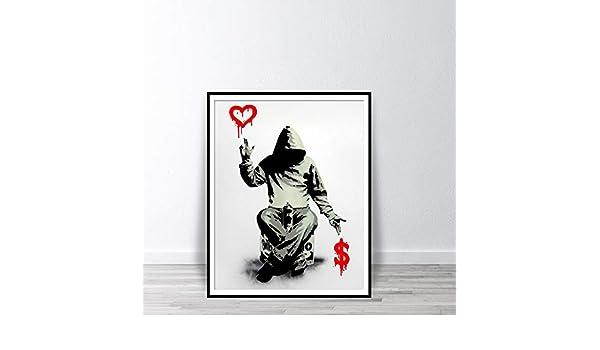 Geiqianjiumai Banks Street Graffiti Print Boy Love Money Wall Art ...