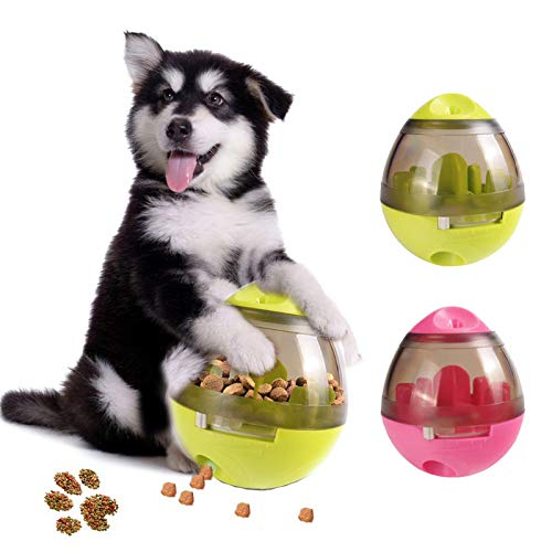 HOT Pet Dog Intelligent Feeding Toys Tumbler Spill Food Toys Ball Toys Teddy golden Retriever Bite Slower Pet Dog Supplies Toys
