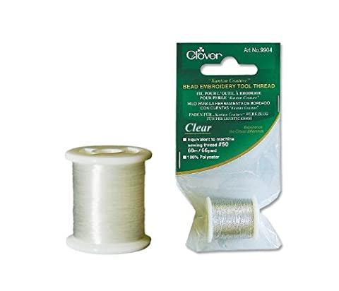 Kantan Couture Bead Embroidery Tool Thread 66yd-Clear - Kantan Couture Bead Embroidery Tool