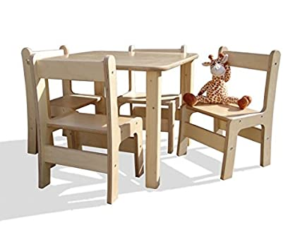 Eli de Kids Lätt 4 sillas, 1 mesa: Amazon.es: Hogar