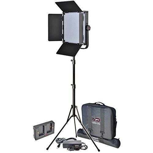 Vidpro LED-1X1 Studio Video Lighting Kit with LED Light  Sta