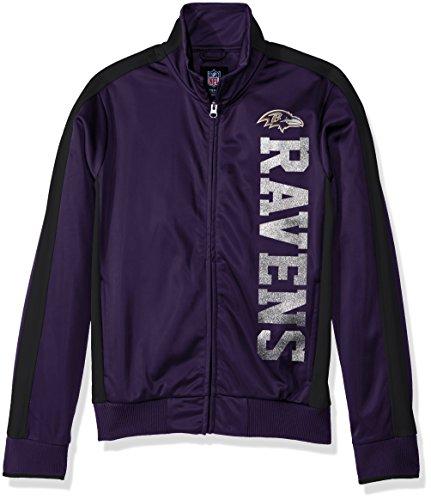 GIII For Her NFL Baltimore Ravens Women's Drop Back Track Jacket, X-Large, -