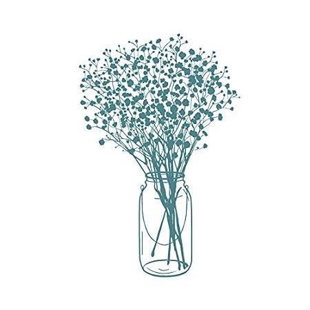 Sello caucho MYA 0026 Jarr/ón de flores Soporte cling