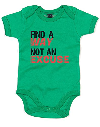find-a-way-not-an-excuse-baby-grow-kelly-green-black-6-12-months