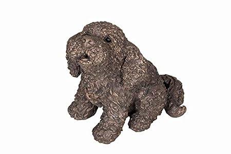 Frith Frankie The Cockapoo - Figura Decorativa de Perro de Bronce Fundido en frío para el hogar o el jardín: Amazon.es: Hogar