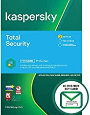 Kaspersky Total Security 2021 | 3 Devices | 1 Year | PC/Mac/Android | Activation Key Card by Post with Antivir