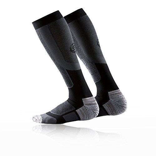 Skins Men's Essentials Thermal Compression Socks, Black/Pewter, Large