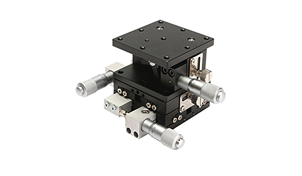 60x60mm XYZ 3-Axis Linear Stage Adjustable Manual Displacement Platform Sliding
