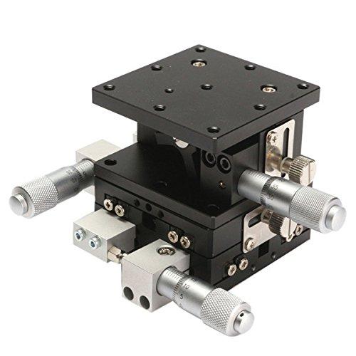 ランフィー 60x60mm XYZ 3 軸リニアステージ可変手動変位プラットフォームスライディングテーブル B07CSR17L2