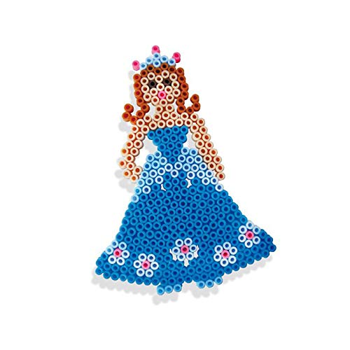 Multicolor 14671 SES Juego de Cuentas para Planchar de Princesas para ni/ños