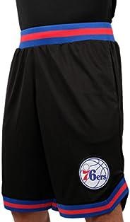 Ultra Game NBA Philadelphia 76ers Mens Woven Basketball Shorts, Team Color, Large