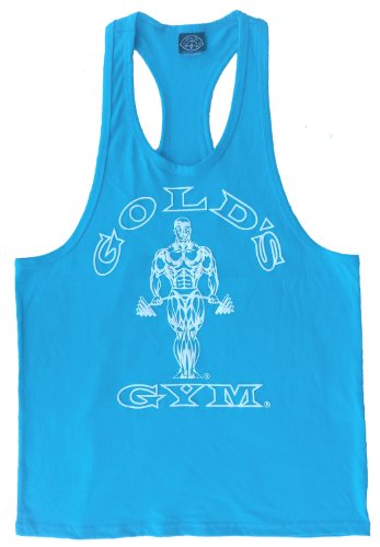 G311 Golds Gym Racerback Tank Top (M, Turquoise)