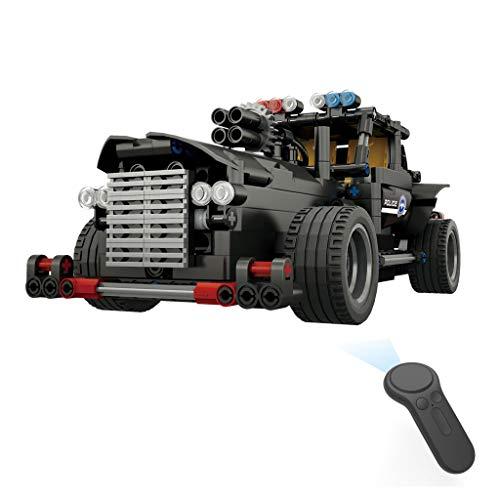 RC Toy Car | BB13007 462PCS DIY Police Command Vehicle 2.4G Building Block RC Car Kids Toys N7Z9