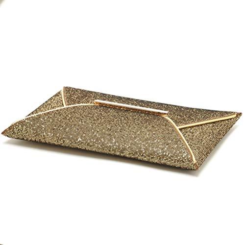 Sac gold Soirée Fête Gshe Pochette Sequin Enveloppe Bag Et pour De Mariage qgxwUS