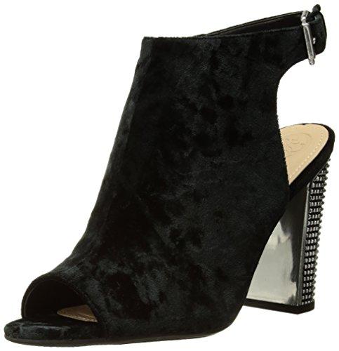 Women's Heeled Geogia2 Sandal Velvet Guess Black 86zqTzd