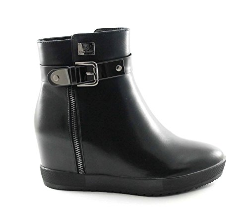 LAURA BIAGIOTTI 1787 black boots wedge socket woman black zip Nero rewgwRt