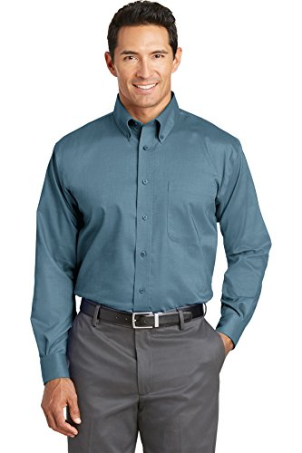 Red House Men's Nailhead Non Iron Button Down Shirt XL Teal Blue from Red House