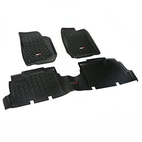 Rugged Ridge All-Terrain 12987.04 Black Front and Rear Floor Liner Kit For Select Jeep Wrangler Unlimited
