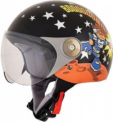 AFX 01070010 FX33-Y Rocket Boy Youth Helmet, Distinct Name: Rocket Boy, Gender: Boys, Size Segment: Youth, Primary Color: Black, Helmet Type: Open-face Helmets, Helmet Category: Street, Size: Sm