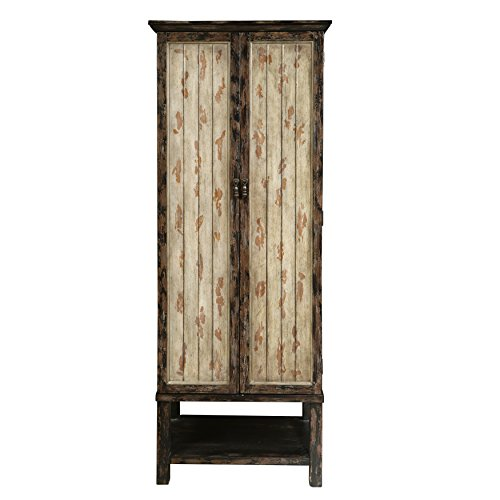 Pulaski P017025 Tall Double Door Storage Accent Cabinet, Brown