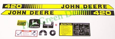 Photo John Deere 420 L&G Tractor Decal Set