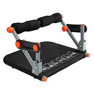 Finether Ab Exercise Mat, Abdominal Mat Core Mat Sit-Up Pad with Extension Foam Pad for Full Range of Motion