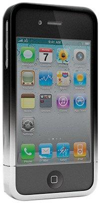 Cygnett Chromatic two-tone Spiegelot dockable case für iPhone 4 + 4S - Silber/Schwarz