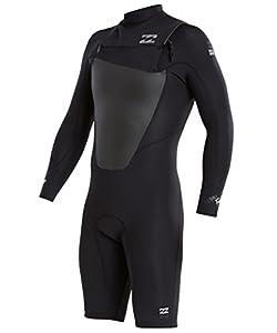 Billabong Mens 202 Foil Cz Long-Sleeve Spr Wetsuit, Black, Small