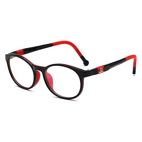 Fantia Kids Safety Flex Optical Round Eye Glasses prescription glasses (black and - Eyeglass Frames Girls