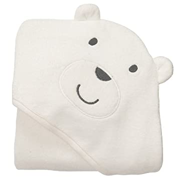 Carters Baby White Bear Hooded Hoodie Towel