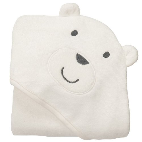 Amazon.com : Carters Baby White Bear Hooded Hoodie Towel : Hooded Baby Bath Towels : Baby