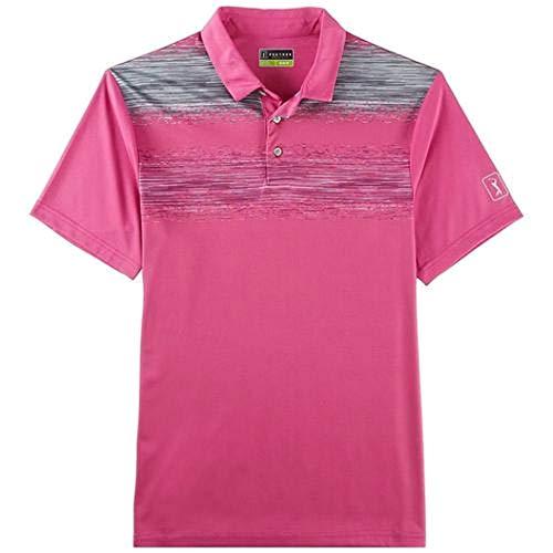 PGA TOUR Gray Mens Driflux Striped Polo Rugby Shirt ()
