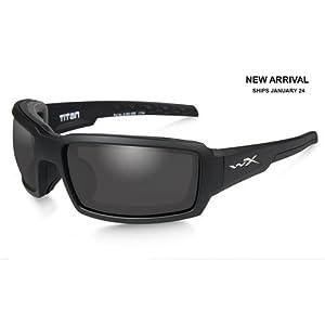 Wiley X CCTTN01 WX Titan Sunglasses w/Matte Black Frame & Grey Lens
