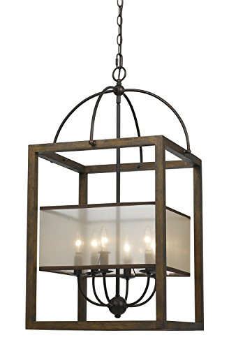 Cal Lighting FX-3536/6L, 19x19x33, Dark Bronze/Stained Reddish Brown