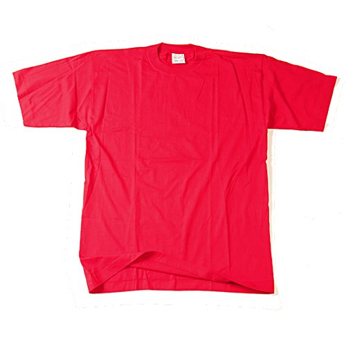 premium selection 13d08 f5bdf Rotes T-Shirt ohne Druck - uni - Größe: S: Amazon.de: Sport ...