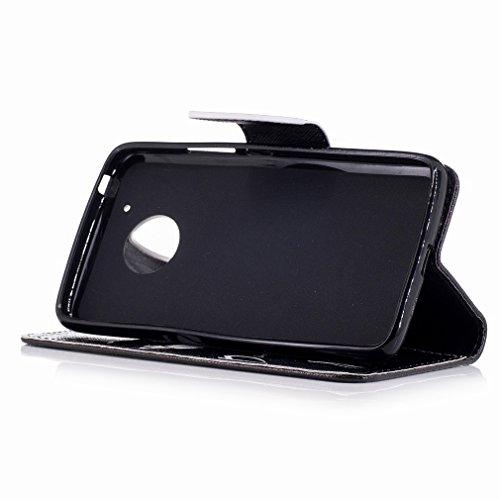 Yiizy Motorola Moto G5 Custodia Cover, Denti Sorridono Design Sottile Flip Portafoglio PU Pelle Cuoio Copertura Shell Case Slot Schede Cavalletto Stile Libro Bumper Protettivo Borsa