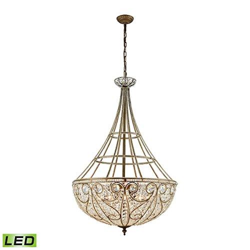 Elk Lighting 15967/10-LED Elizabethan 10 Light LED Pendant in Dark Bronze Chandelier