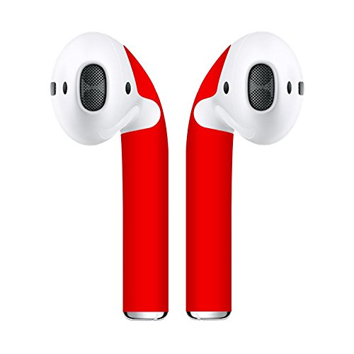 Airpod Skins Protective Wraps  Minimal Stylish Covers to Customize & Protect your Apple AirPods (Red)